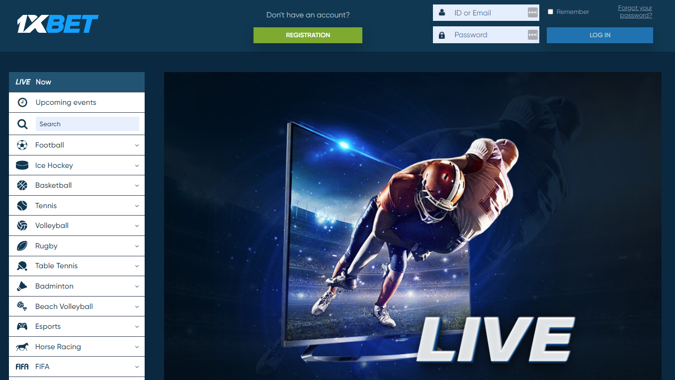 1xbet NG Live Betting