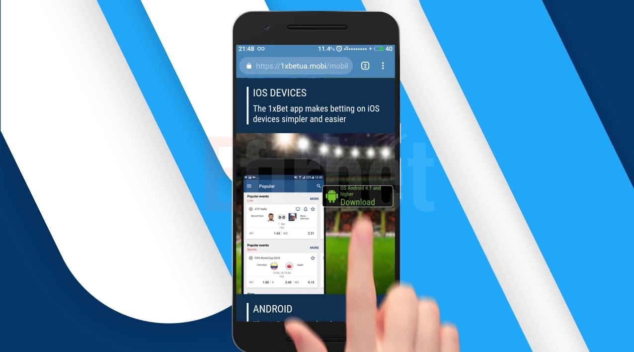 1xBet app download for Android