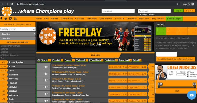 Merrybet Nigeria sport betting