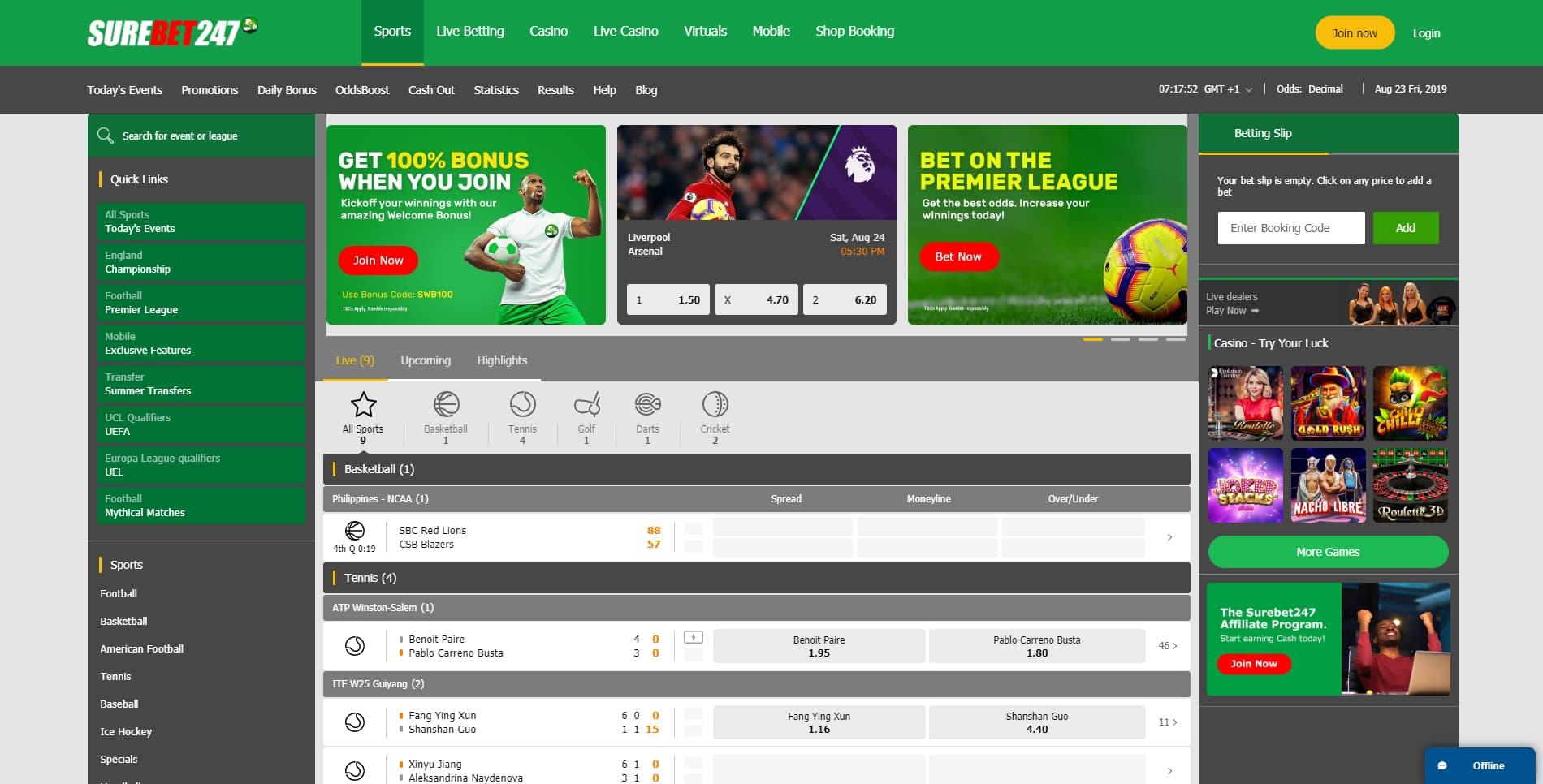 SureBet247 Nigeria site