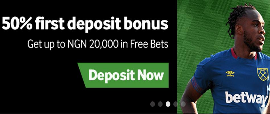 Betway deposit bonus