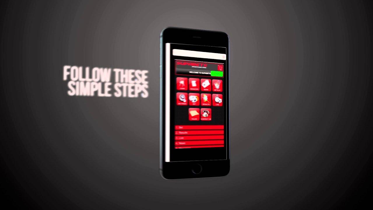 Supabets mobile app