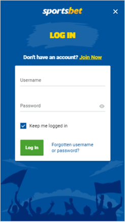 Sportbet sign up