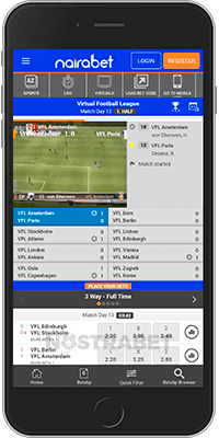 Nairabet app for Android
