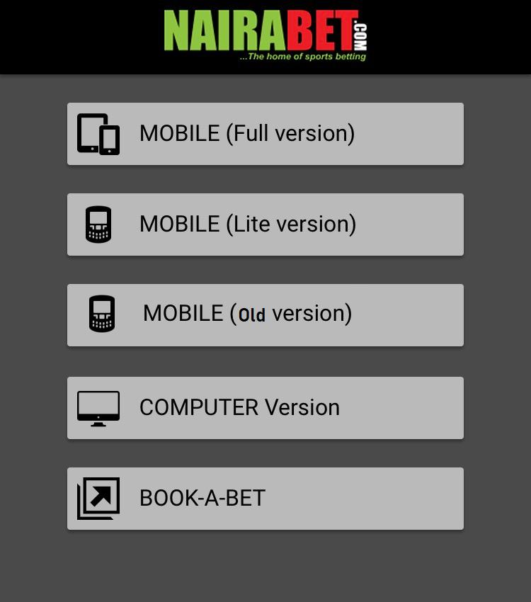 nairabet mobile app