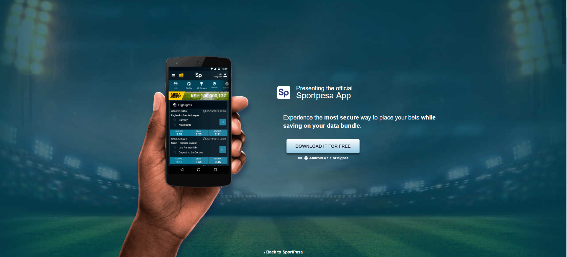Sportpesa app for Android