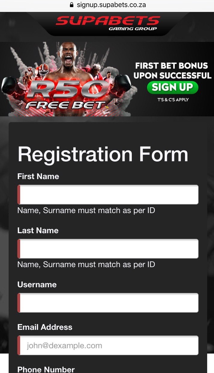 supabets registration
