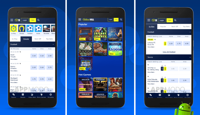 William Hill App for Android